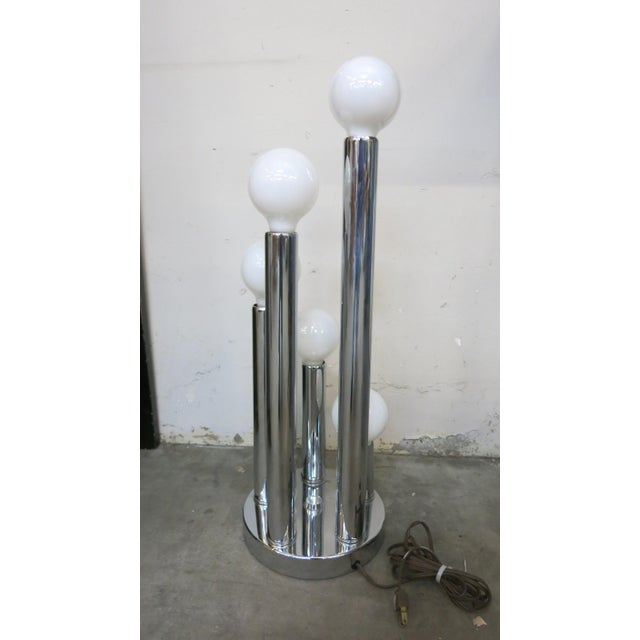 Sonneman Style Chrome Ball Table Lamp, by Torino Italy For Sale In Los Angeles - Image 6 of 10
