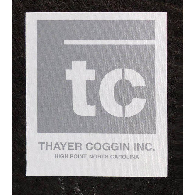 Thayer Coggin Club Chairs in Velvet - A Pair For Sale - Image 9 of 10