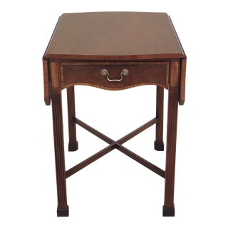 Stickley Chippendale Drop Leaf Mahogany Pembroke Table For Sale