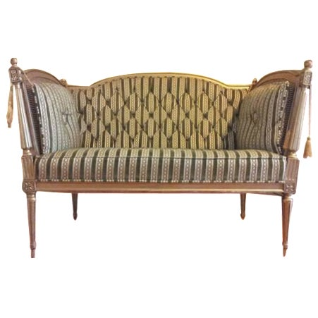 19th-Century Louis XVI-Style Settee For Sale