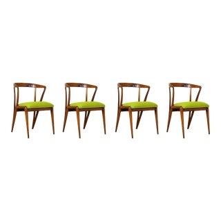 1950s Bertha Schaefer Dining Chairs by Singer & Sons - Set of 4 For Sale