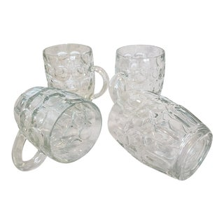 Vintage Ravenhead Glass Half Pint Mugs - Set of 4 For Sale