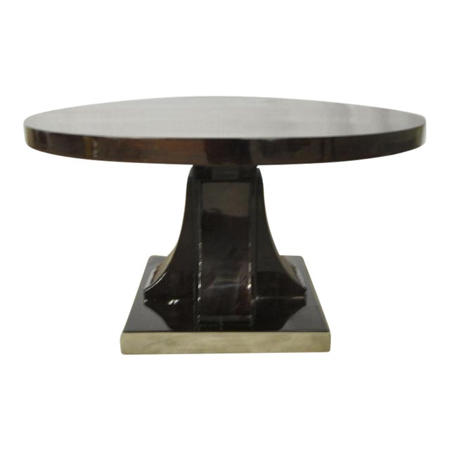 Maurice Dufrene Modernist Rosewood Art Deco Coffee Table With Nickel Base For Sale
