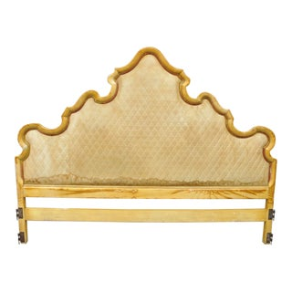John Widdicomb French Provincial Upholstered Bed Headboard