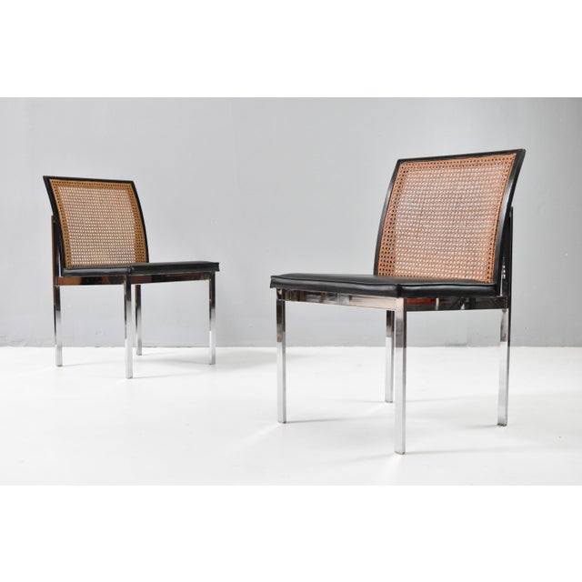 Mid-Century Chrome & Cane Dining Chairs by Lane For Sale - Image 9 of 13