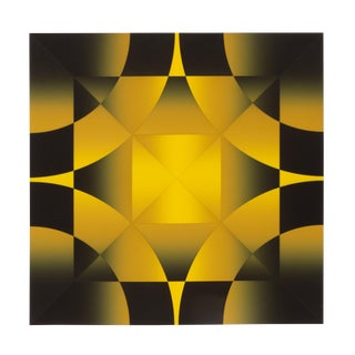 Mark Rowland, Gamut, Op Art Abstract Screenprint For Sale