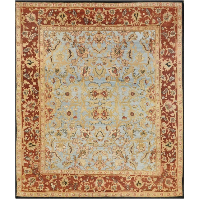 """Persian Mansour Fine Handwoven Agra Rug - 8'9"""" X 10' For Sale - Image 3 of 3"""
