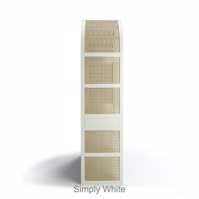 Leila Etagere Bookcase- Simply White For Sale - Image 4 of 5