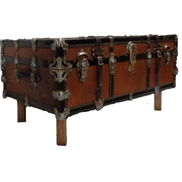 Premium Steamer Trunk Coffee Table - Image 1 of 4