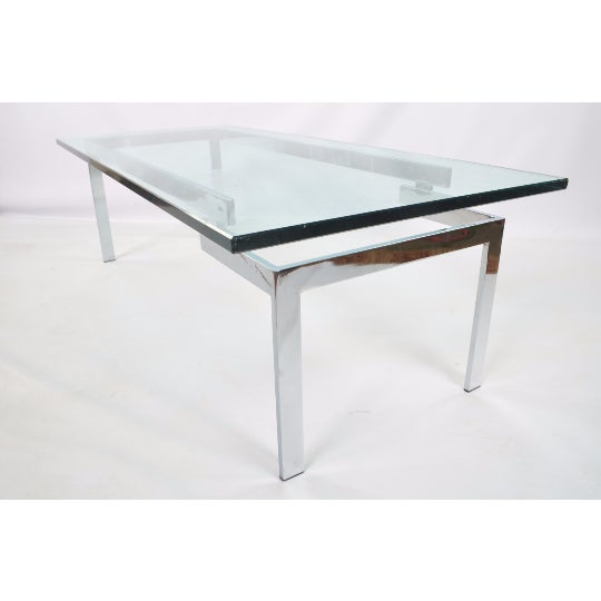 Glass & Chrome Staggered Base Coffee Table - Image 2 of 6