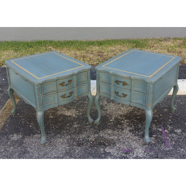 Vintage French Provincial Nightstands - A Pair - Image 10 of 10