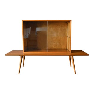 1955 Paul McCobb Planner Group 2 Piece Modular Cabinet and Bench - a Pair For Sale