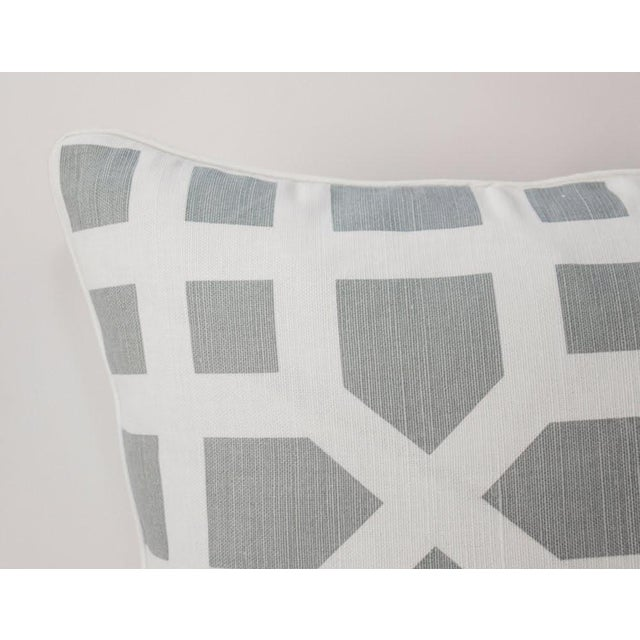 Linen Avignon Trellis Custom Pillows, a Pair For Sale - Image 4 of 5