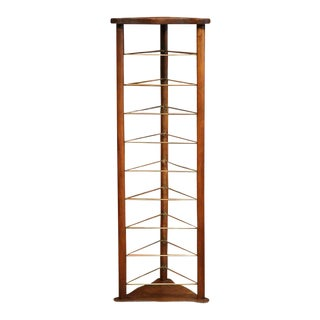 19th Century French Louis Philippe Walnut Plate Rack