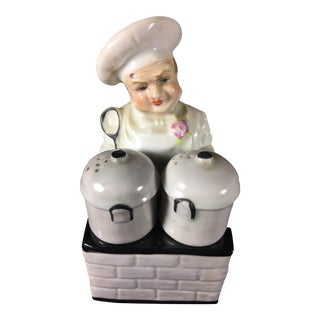 1940s Chef Salt & Pepper Shakers - A Pair