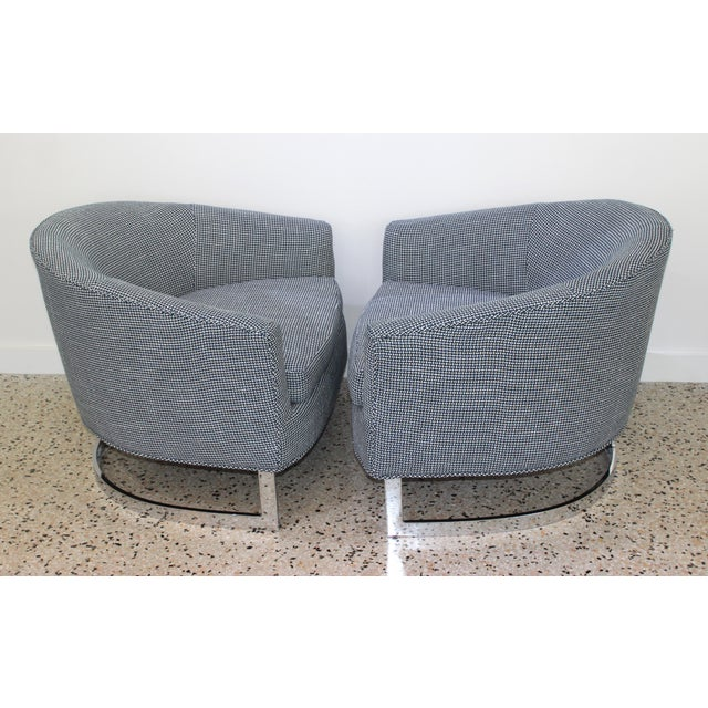 Mid 20th Century Mid-Century Modern Milo Baughman for Thayer Coggin Chairs - a Pair For Sale - Image 5 of 13