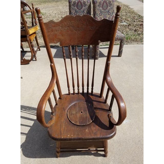 Antique Potty Chair For Sale - Image 4 of 4 - Antique Potty Chair Chairish