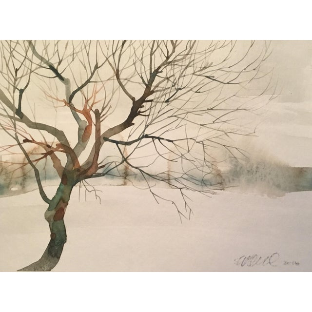 Winter Tree Watercolor Painting - Image 1 of 2