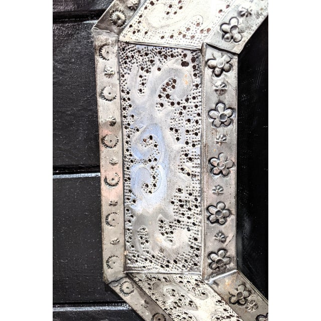 1960s 1960s Vintage Moroccan Metal Mirror For Sale - Image 5 of 6