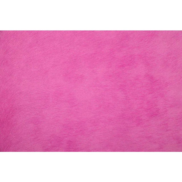 Contemporary Fuchsia Cow Hide Rug - 7′ × 8′ For Sale - Image 3 of 4