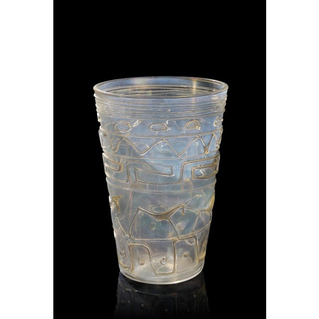 Transparent Ermanno Nason Vase With Original Drawing For Sale - Image 8 of 8