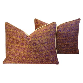Pierre Frey Royal Medallion Pillows - a Pair For Sale