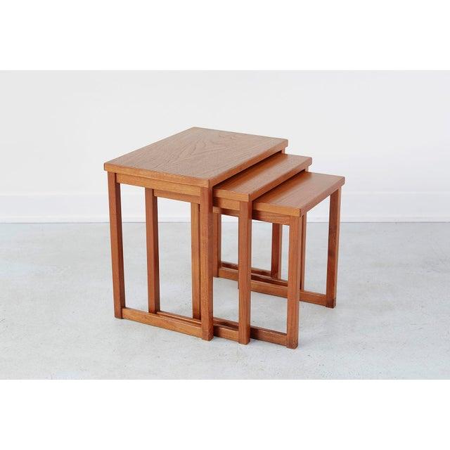Mid-Century Modern Kai Kristiansen Nesting Tables For Sale - Image 3 of 8