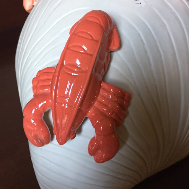 Alabaster Fitz and Floyd Vintage Ceramic Lobster Tureen For Sale - Image 8 of 10