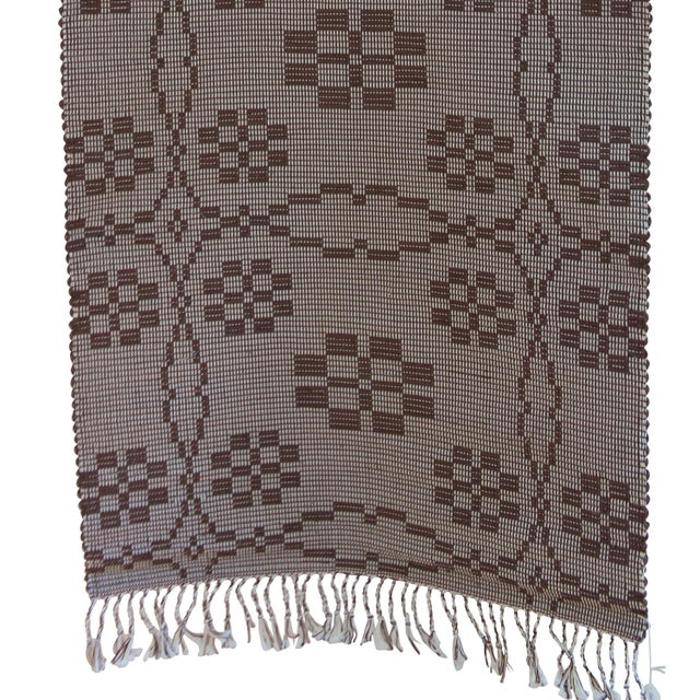 "Cinnamon Handwoven Reversible Vintage Swedish Rug by Scandinavian Made 85"" x 27"" For Sale - Image 8 of 9"