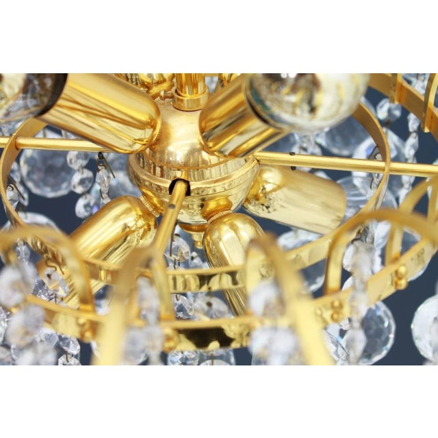 Metal Christoph Palme Chandelier Gilded Brass and Crystal Glass For Sale - Image 7 of 13