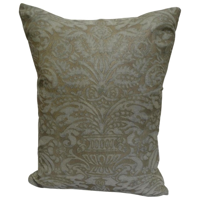 Vintage Fortuny Pillow - Image 1 of 3