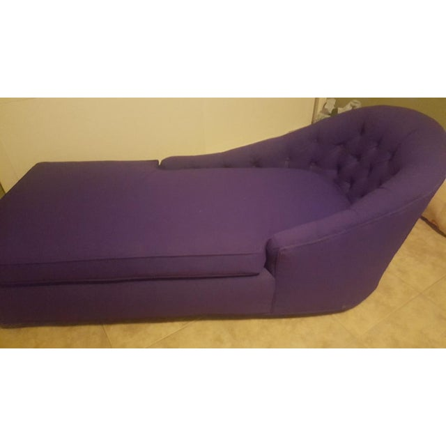 Contemporary 1970s Contemporary Refinished Eggplant Chaise For Sale - Image 3 of 6
