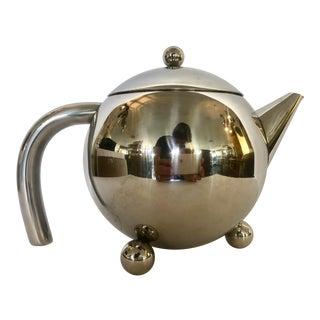 1980's Chrome Tea Pot