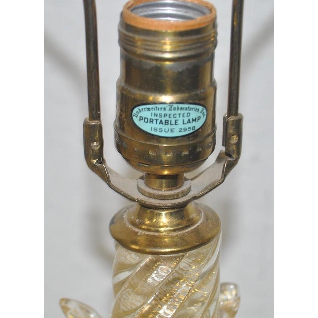 C.1940s Murano Gold Fleck Table Lamp - Image 6 of 10