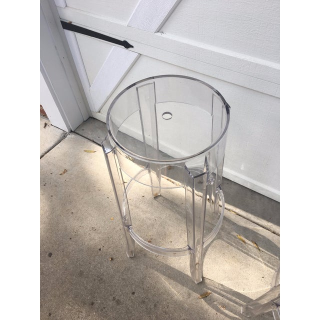 Kartell Charles Ghost Transparent Crystal Bar Stool - A Pair - Image 3 of 4