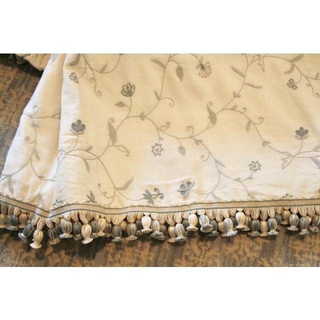 Italian Giltwood Bed Corona W/ Draperies For Sale - Image 11 of 12