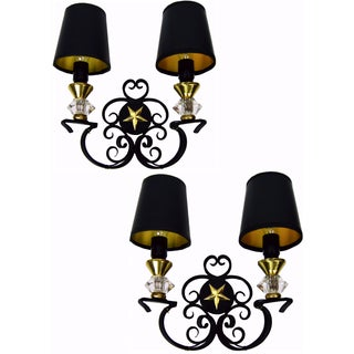 Vintage French Andre Arbus Sconces - 6 Pairs Available For Sale