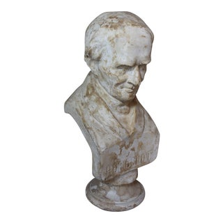 Antique Plaster Bust of Humboldt