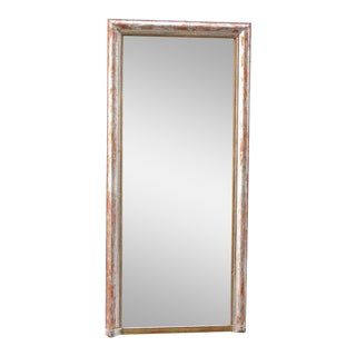 Mid-19th Century French Louis Philippe Silver Plated Pier Mirror For Sale
