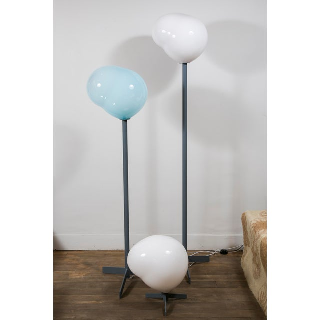 """Blown Glass """"Nubes"""" Table Lamp, Galerie Blanchetti Edition 2018 For Sale - Image 7 of 10"""