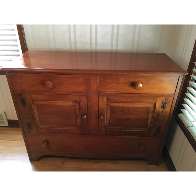 1940s 1940s Colonial American Style Maple Buffet Cabinet For Sale - Image 5 of 6