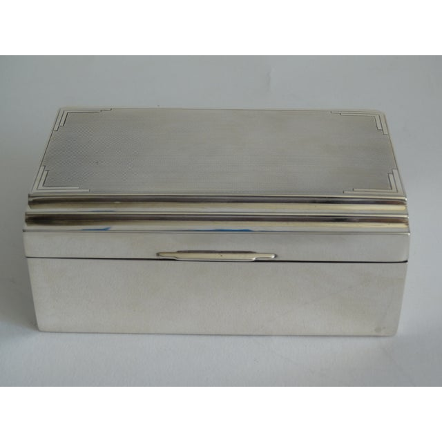 Art Deco Sterling Silver Table Box For Sale - Image 9 of 10