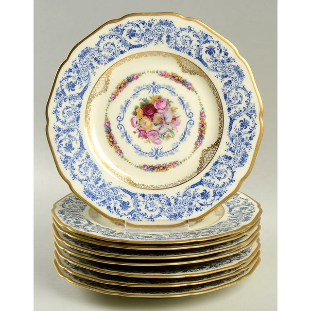 Ceramic Black Knight Margarite Salad Plate - Set of 8 For Sale - Image 7 of 7