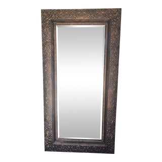 Large Embossed Copper Mirror