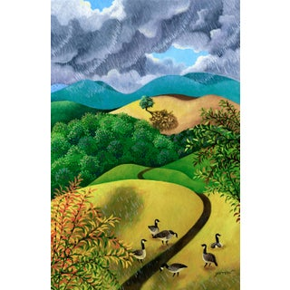 """""""Wild Geese"""" Contemporary Landscape Giclee Reproduction by Wynn Yarrow For Sale"""