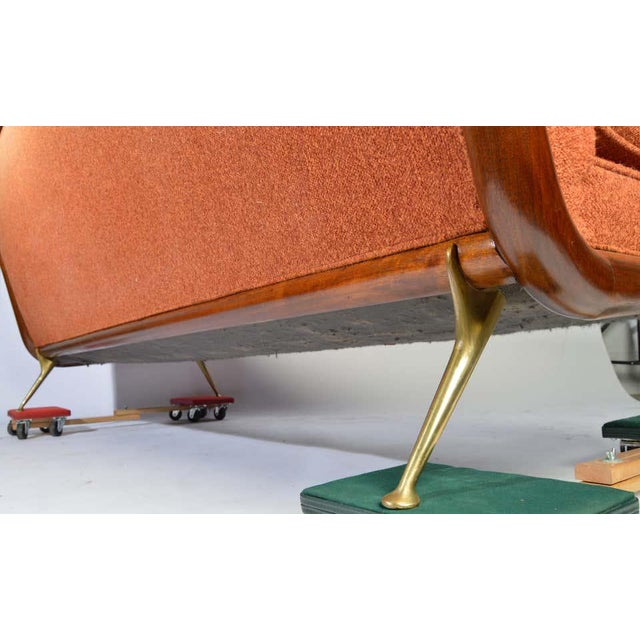 Orange t.h. Robsjohn-Gibbings Sofa Model 1727 for Widdicomb Circa 1955 For Sale - Image 8 of 12