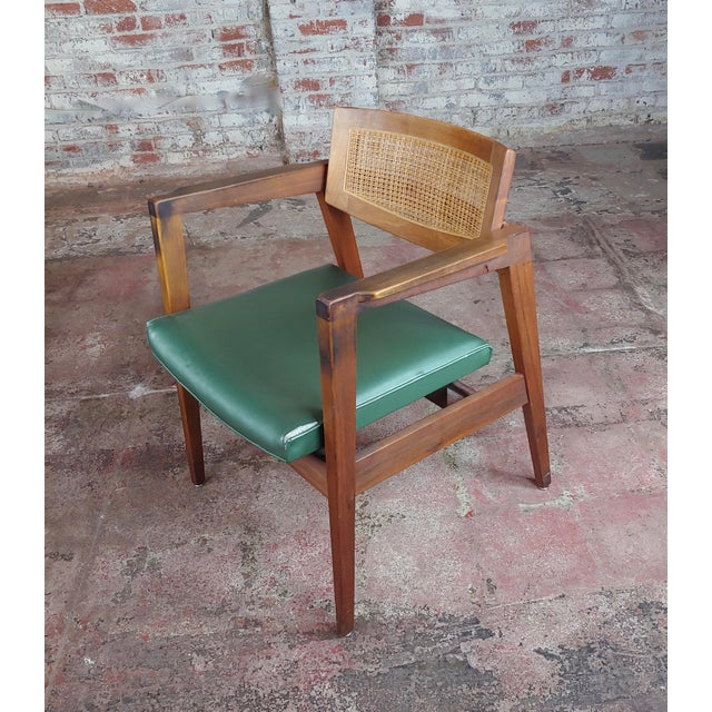 Gunlocke 1960s Mid Century Modern Cane Back Arm Chairs -Set of 4 For Sale In Los Angeles - Image 6 of 11
