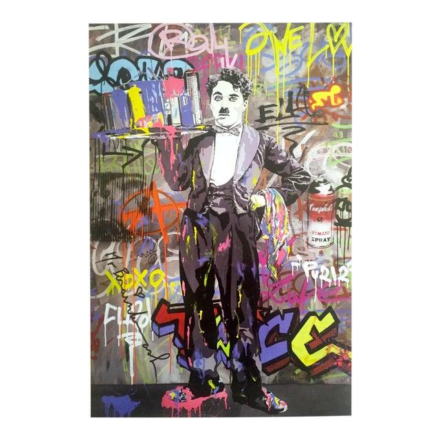"Mr. Brainwash "" Charlie Chaplin "" Original Lithograph Print Pop Art Poster - Image 1 of 11"