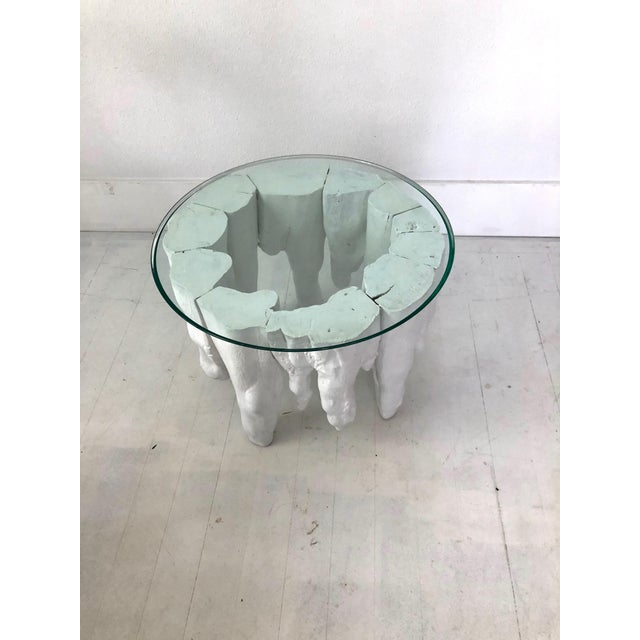 Abstract Bruailist White Cypress Root Sculpted Side Table For Sale - Image 3 of 8
