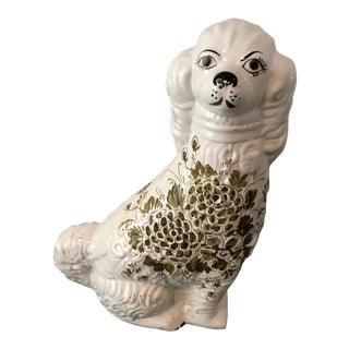 Vintage Staffordshire Porcelain Dog Figure